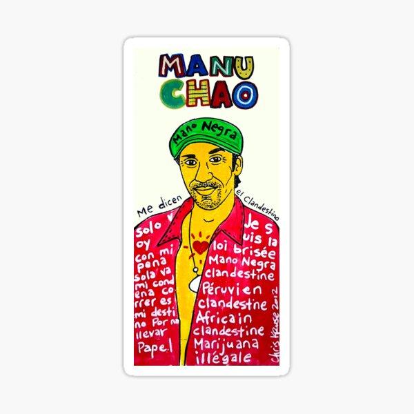 Manu Chao Reggae Ska Pop Folk Art Sticker