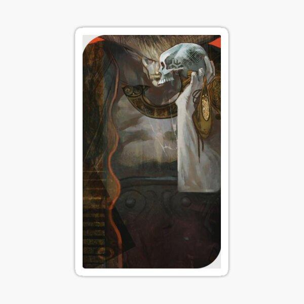 Dragon Age Inquisition Iron Bull Tarot card Sticker