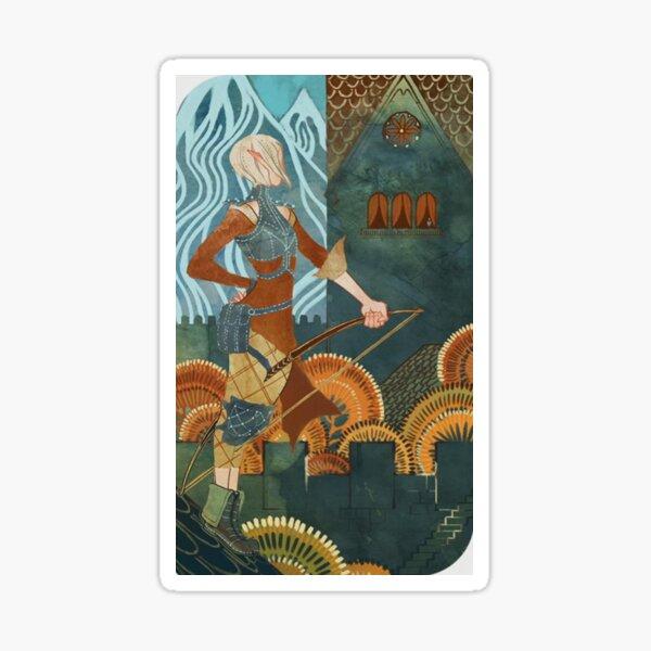 Dragon Age Inquisition Sera Tarot card Sticker
