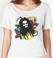 Rasta Music Vector T-Shirt Women's Relaxed Fit T-Shirt