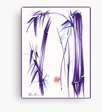 """Lilac Bamboo Forest"" Original ink and wash chinese brush painting Canvas Print"
