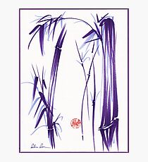 """""""Lilac Bamboo Forest"""" Original ink and wash chinese brush painting Photographic Print"""