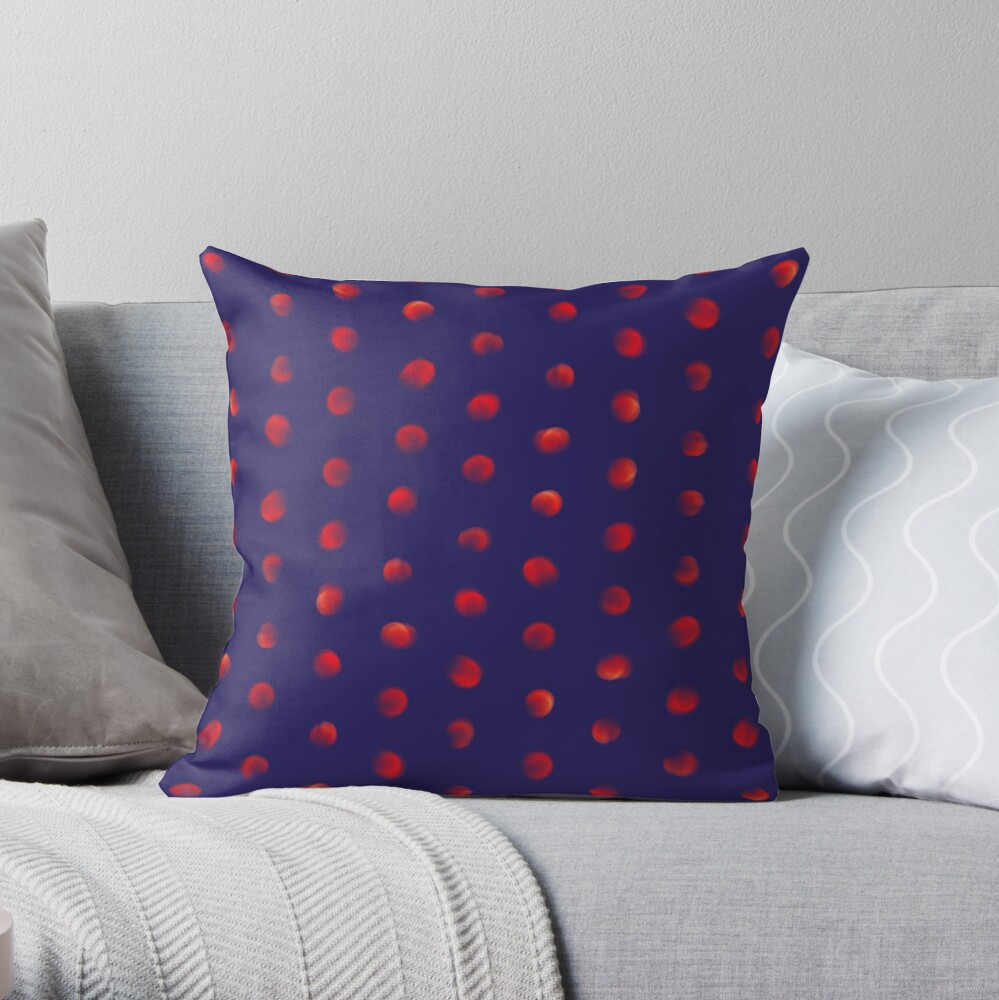 Total eclipse of the polka dot Throw Pillow