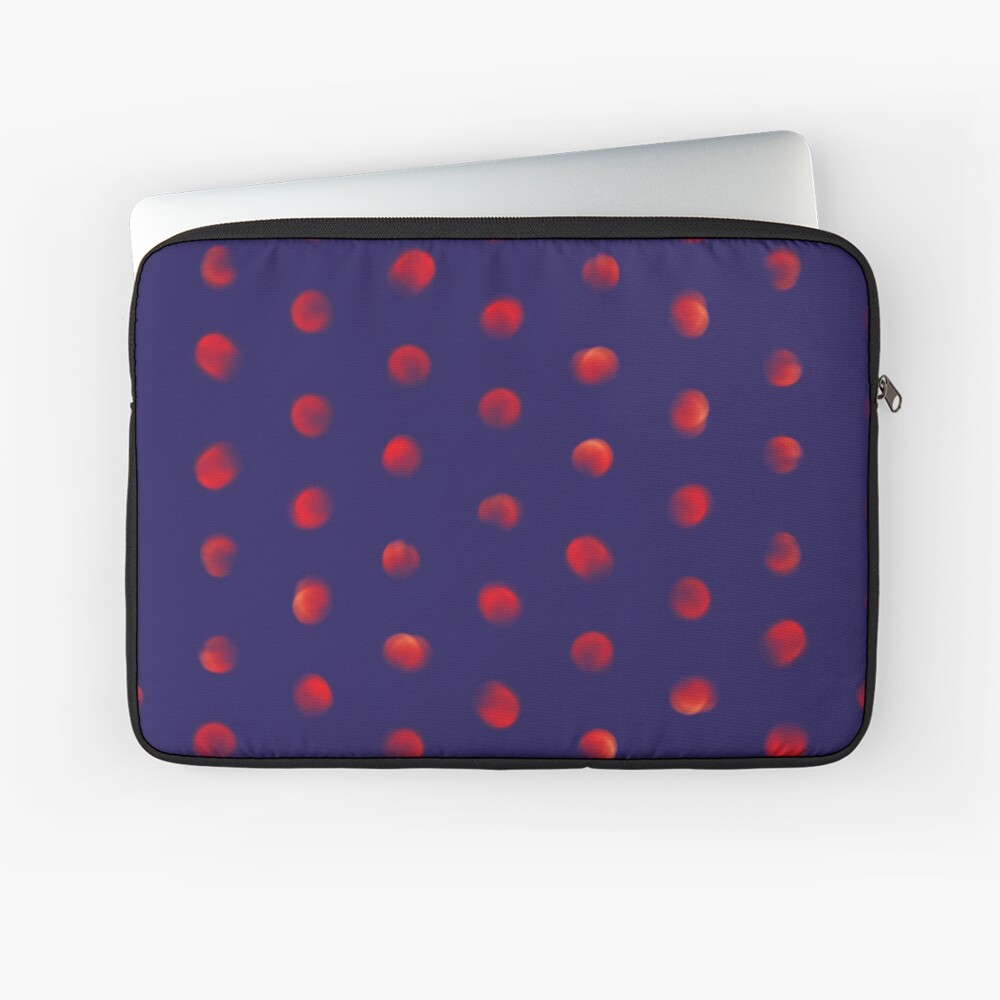 Total eclipse of the polka dot Laptop Sleeve