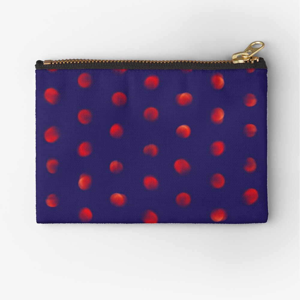 Total eclipse of the polka dot Zipper Pouch