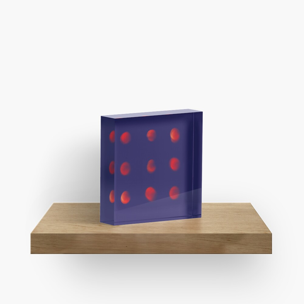 Total eclipse of the polka dot Acrylic Block