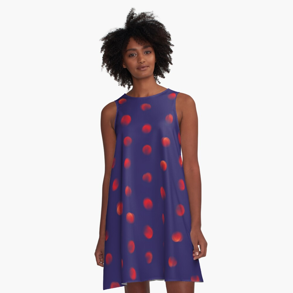 Total eclipse of the polka dot A-Line Dress
