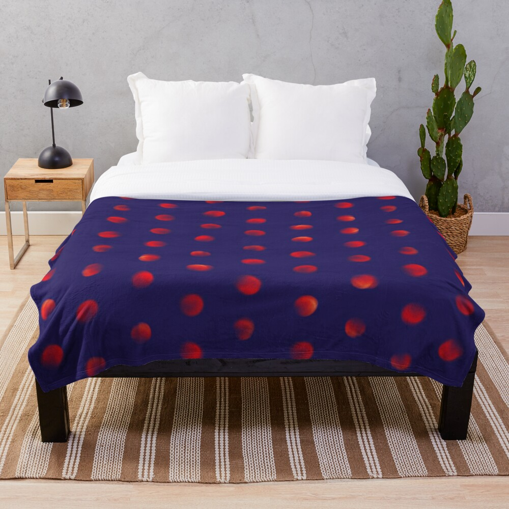 Total eclipse of the polka dot Throw Blanket