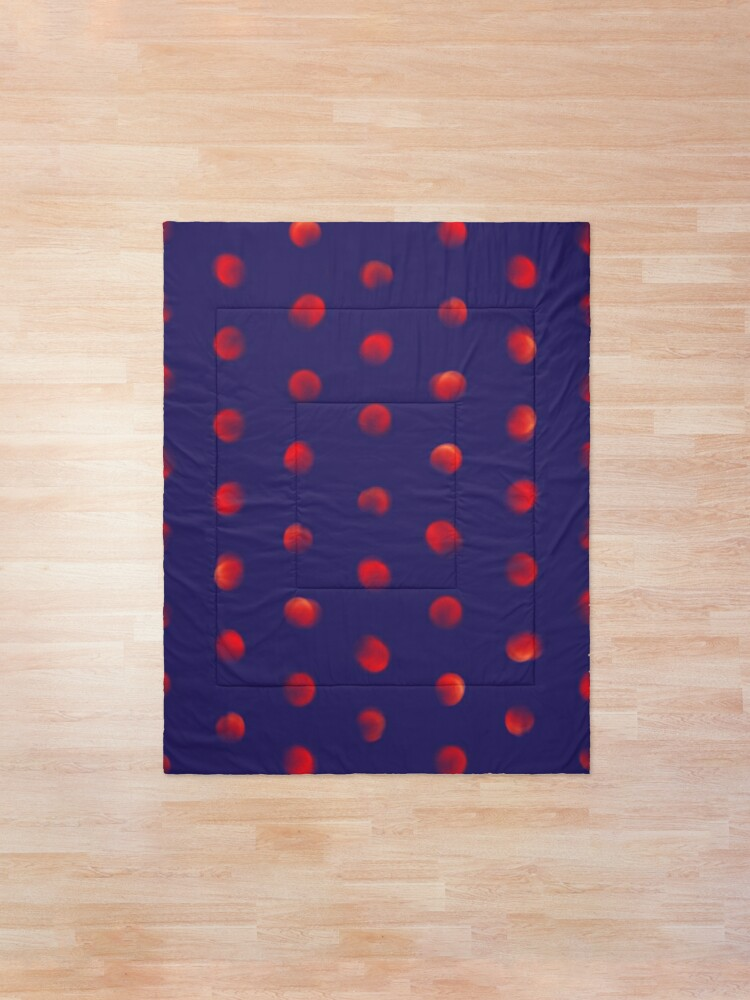 Alternate view of Total eclipse of the polka dot Comforter