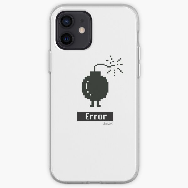 """""""Error Guy"""" Icon graphic by Classicbot iPhone Soft Case"""