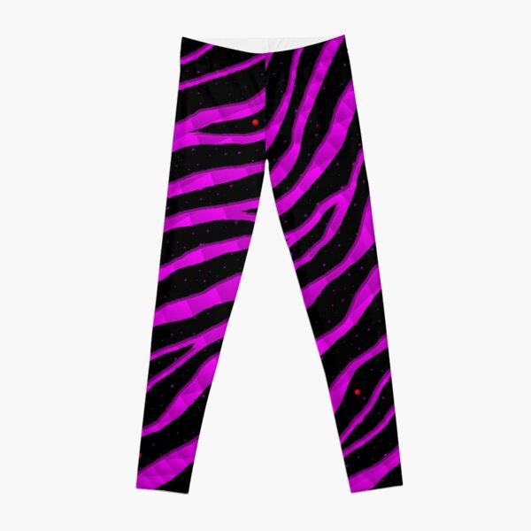 Ripped SpaceTime Stripes - Pink Leggings