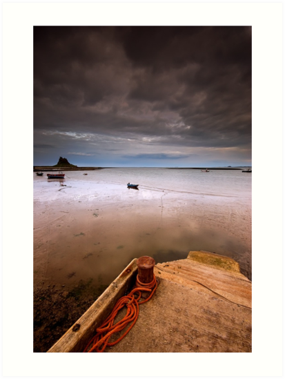 Gloomy Lindisfarne by james  thow