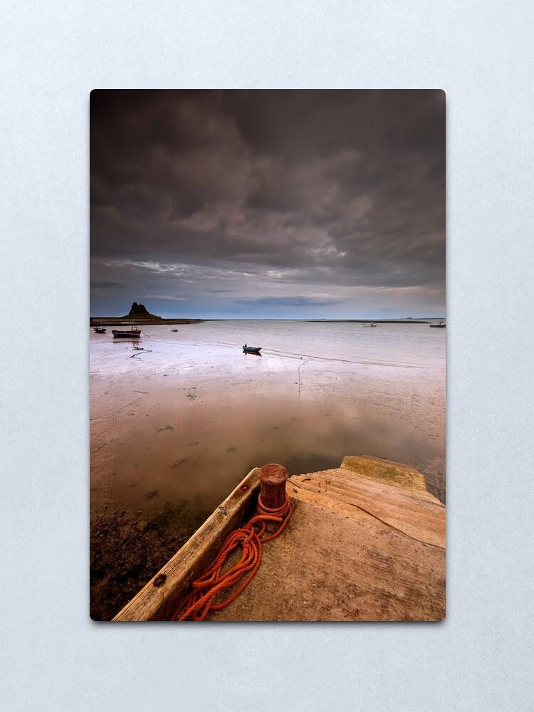 Alternate view of Gloomy Lindisfarne Metal Print