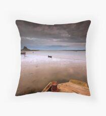 Gloomy Lindisfarne Throw Pillow