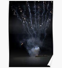 exploding boat Poster