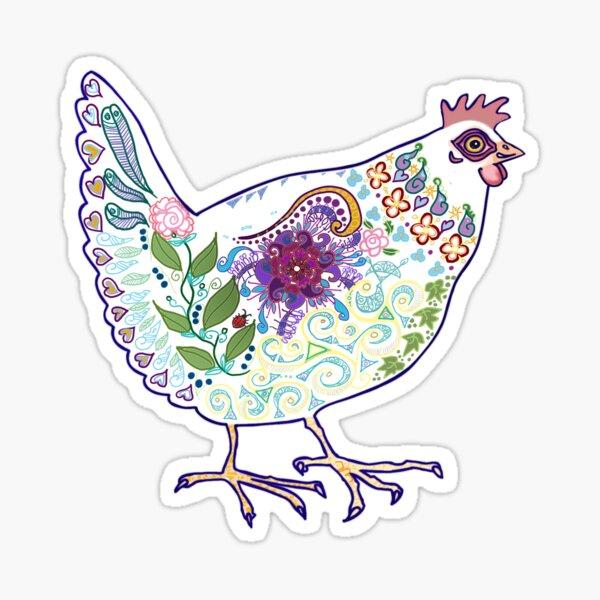 Pink chicken Sticker