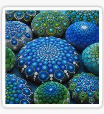 Cool Tone Mandala Stone Collection Sticker