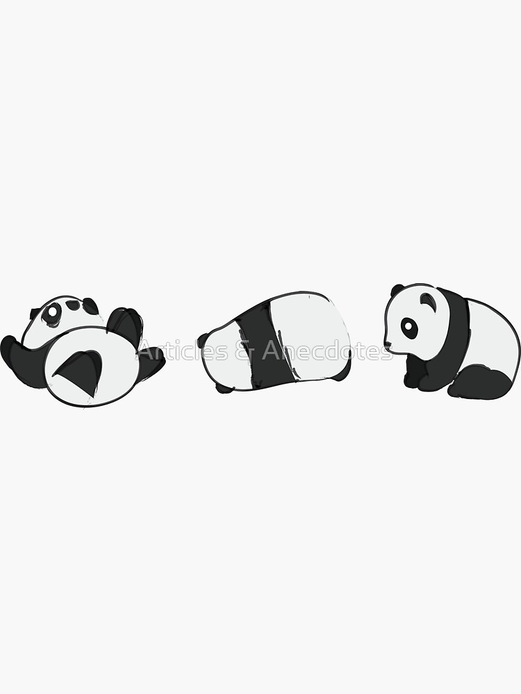 Tumbling Panda Bears (SET) by meichi