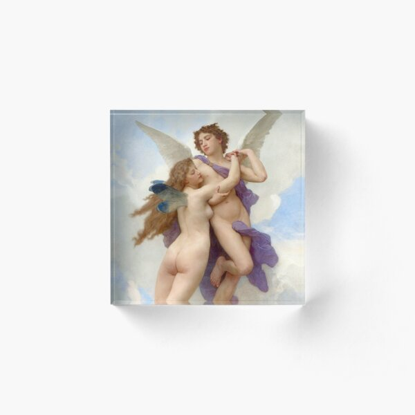 William-Adolphe Bouguereau: Love and Psych - French Acrylic Block