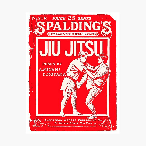 Spalding Jiu Jitus- Retro Vintage Martial Arts Magazine Cover Photographic Print