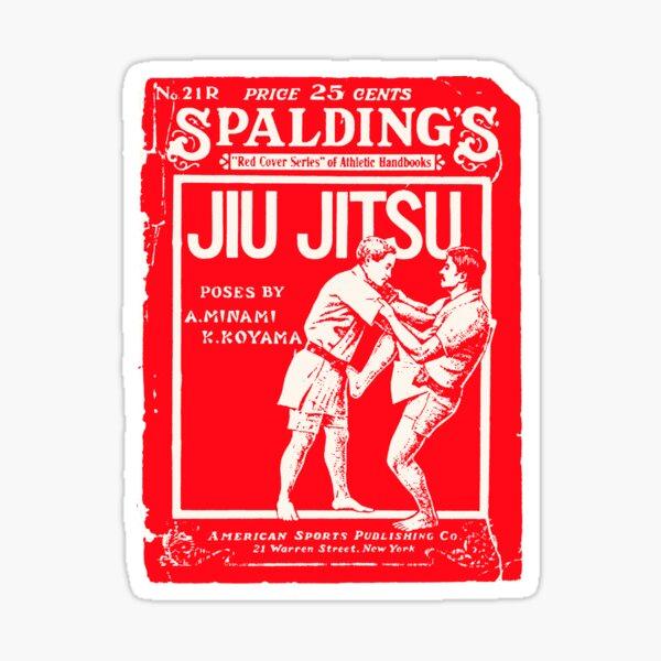 Spalding Jiu Jitus- Retro Vintage Martial Arts Magazine Cover Sticker