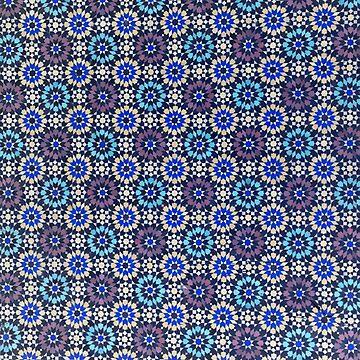 Marrakech Morocco Ceramic tile work blues by stuwdamdorp