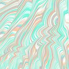 Pastel Fractal Waves by KaleiopeStudio