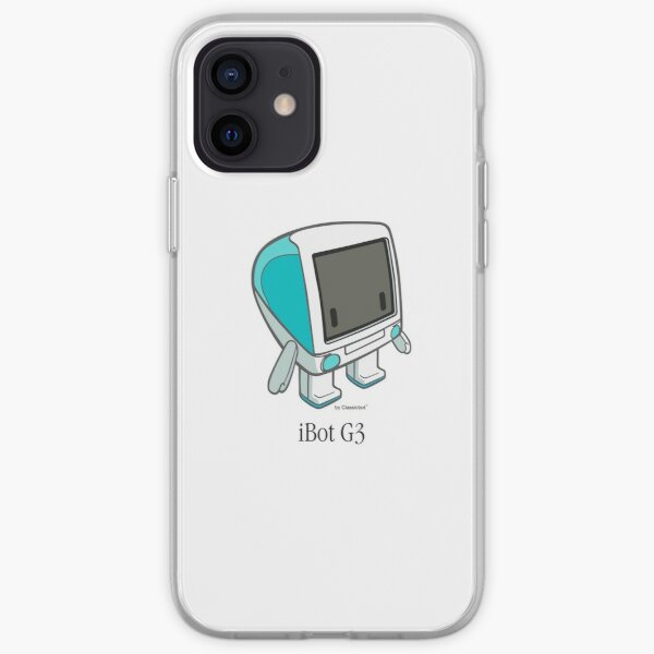 """""""iBot G3 Bondi Blue"""" cute robot  by Classicbot iPhone Soft Case"""