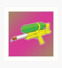 Super Soaker Water Gun 90s 80s Toy Squirt Pistol Drawing Art Print
