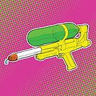 Super Soaker Water Gun 90s 80s Toy Squirt Pistol Drawing by JustNukeIt