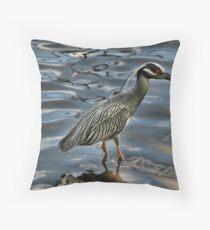 juvenile Heron  Throw Pillow