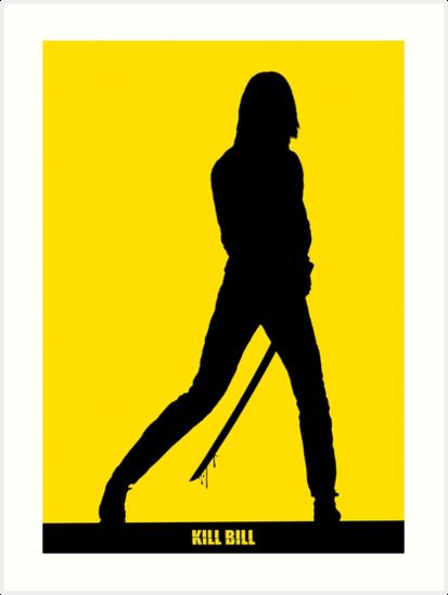 Quot Kill Bill Minimal Silhouette Poster Quot Art Print By