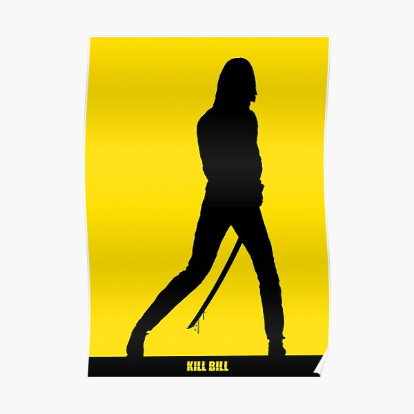 KILL BILL - Cartel de silueta mínima Póster