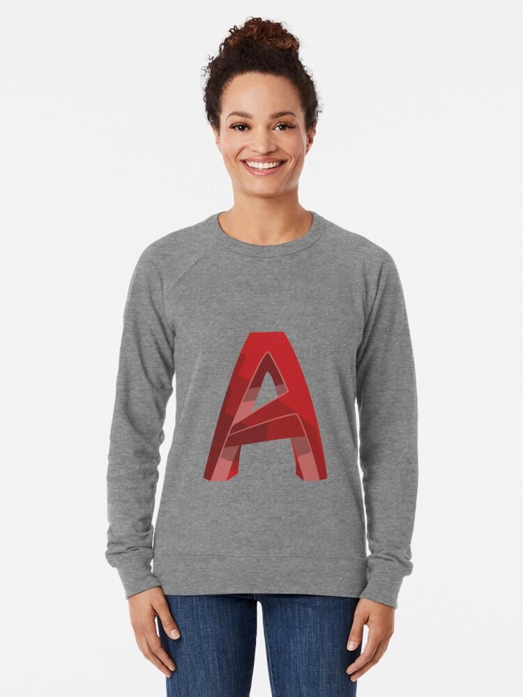 Alternate view of 3D Cad/Cam/Cae Auto Cad Designer Lightweight Sweatshirt