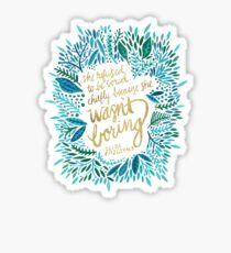 Zelda Fitzgerald – Blue & Gold on Charcoal Sticker