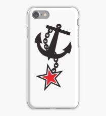 Navy ANCHOR in black with a STAR iPhone Case/Skin