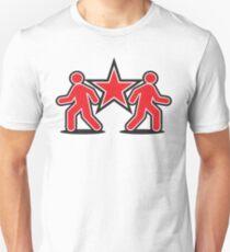 Dancing shuffle man RED STAR Unisex T-Shirt