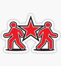 Dancing shuffle man RED STAR Sticker