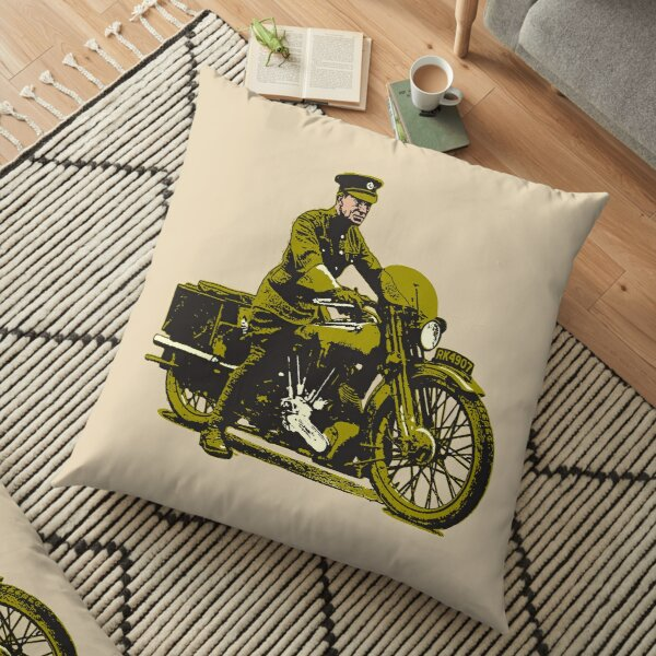 Lawrence of Arabia on his beloved Brough Floor Pillow