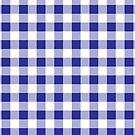Blaues und weißes Buffalo Plaid Pattern von ValeriesGallery