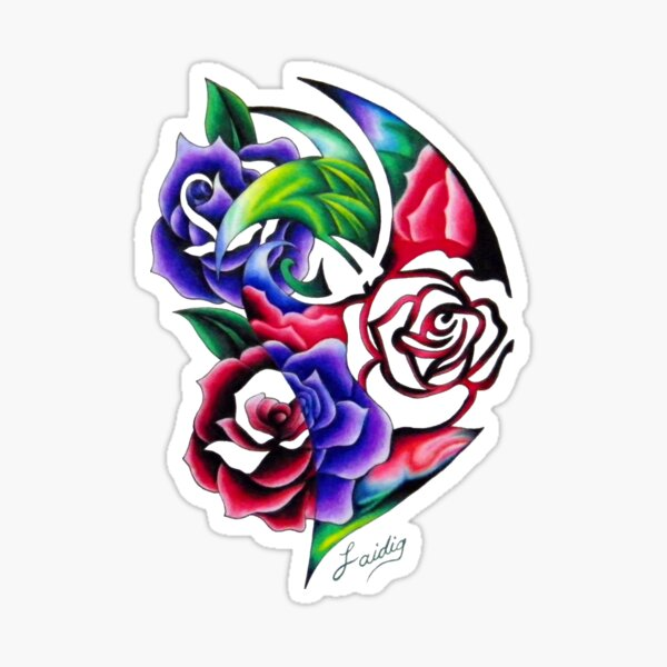 The scent of Roses Roses Roses Sticker