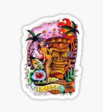 f24c2b335d6b8 Tiki Tattoo Stickers   Redbubble