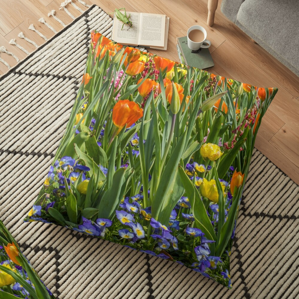 A Mish-mash of Colors Floor Pillow