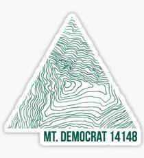 Mount Democrat Topo Sticker