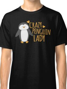 Crazy Penguin Lady  Classic T-Shirt