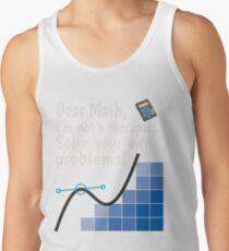 Funny Basic Math T shirt Ridiculousness Design Activities Problems Tank Top
