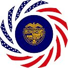 Oregon Murican Patriot Flag Series by Carbon-Fibre Media