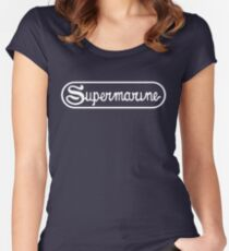 Supermarine Aircraft Company Logo - White Women's Fitted Scoop T-Shirt