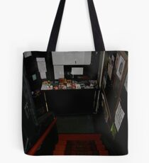 Above: theatre and more art. Below: Art on tap. Tote Bag