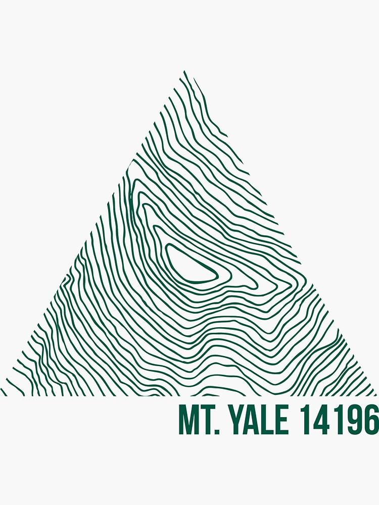 Mount Yale Topo by januarybegan